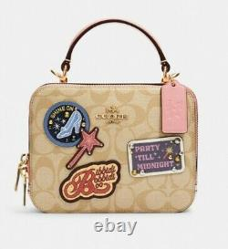 Disney X Coach C1434 Box Crossbody In Signature Canvas with Patches NWT SOLD OUT