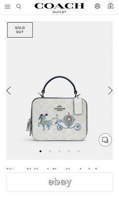 Disney X Coach Cinderella Crossbody Box Bag Purse Top Handle NWT SOLD OUT InHand