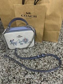 Disney X Coach Cinderella Crossbody Box Bag Purse Top Handle With Coach Gift Bag