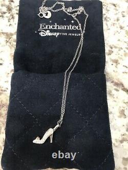 Disneys Enchanted Fine Jewelry Cinderella Shoe Necklace