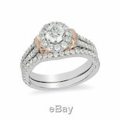 Enchanted Disney Cinderella Frame Collar White Diamond Halo Ring Set in Silver