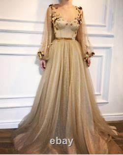 Golden Promise Gown / Prom / Wedding / Ball / Party Dress