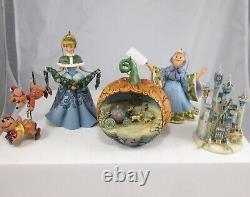 Jim Shore Cinderella Holiday Ornament Set NIB Christmas Jaq Gus Disney Tradition