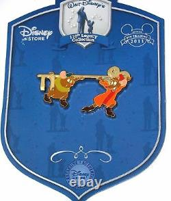 LE Disney Pin Cinderella 110th Legacy Collection Jaq Gus Mouse Gold Golden Key