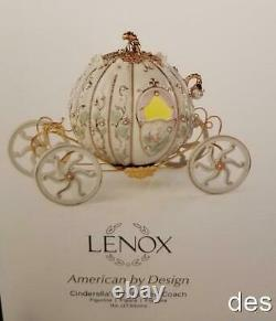 LENOX Disney's CINDERELLA'S ENCHANTED COACH Stagecoach Pumpkin Gorgeous! NIB