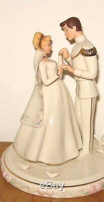 Lenox Disney Cinderella & Prince Gold Wedding Day Cake Topper Figurine