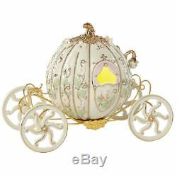 Lenox Disney Princess Cinderella's Coach Figurine Lighted Enchanted Pumpkin NEW