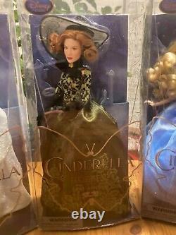 Live Action Cinderella Disney Dolls Set of 4 COMPLETE NRFB