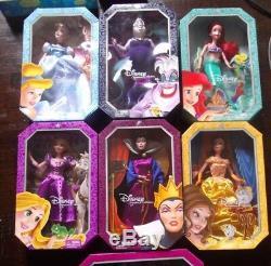 Lot of 5 Disney Dolls Signature Belle Ariel Cinderella Evil Queen -Ursula