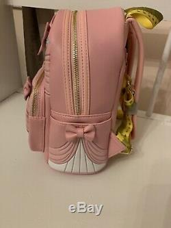 Loungefly Disney Cinderella 70th Anniversary Pink Mini Backpack, And Coin Purse