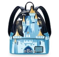 Loungefly Disney Cinderella Castle Backpack Free Shipping WithTracking! (6167N)