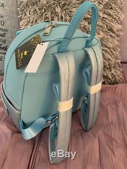 Loungefly Disney Princess Cinderella Blue Carrage Mini Backpack Bag NEW
