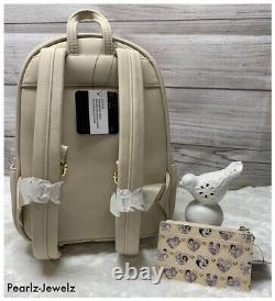 Loungefly Disney Princess Couples Backpack & Cardholder Aladdin Cinderella Ariel