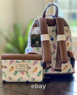 Loungefly Disney Princess Ice Cream Cones Mini Backpack Wallet Set NWT