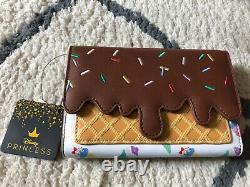 Loungefly Disney Princess Ice Cream Cones Purse & Wallet Cinderella Snow White