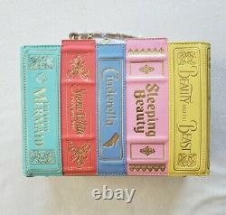 Loungefly Stitch Shoppe Disney Princess Book Leather Handbag Purse Crossbody NEW
