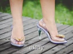 Melissa Lady Dragon Clear Disney's Cinderella Pumps US 7 EUR 38