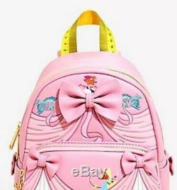 NEW WITH TAGS! Loungefly Disney Cinderella Pink Dress Mini Backpack