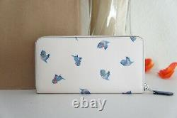 NWT Coach C2893 Disney X Accordion Zip Wallet With Cinderella Flying Birds Print