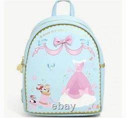 NWT Disney Cinderella Sewing Loungefly Mini Backpack Wallet Set