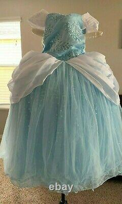 NWT Disney Princess Signature Collection Cinderella Dress/Costume/Gown Girls 7/8