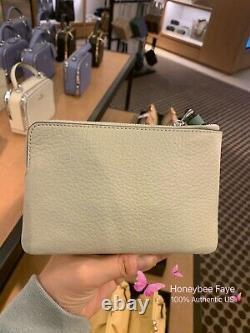 NWT Disney X Coach Corner Zip Wristlet wallet With Cinderella/ Belle/ Tiana