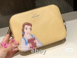 NWT Disney X Coach Mini Camera Bag Cinderella/ Belle/ Tiana