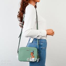 NWT Disney X Coach Mini Camera Bag with Cinderella/ Belle/ Tiana