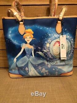 NWT Dooney & Bourke Cinderella Dream Big Princess Leather Shopper Tote Disney
