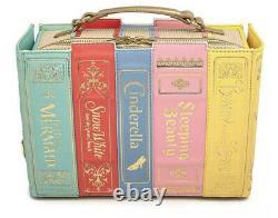 NWT Loungefly Stitch Shoppe Disney Princess Books Leather Crossbody Handbag Pin