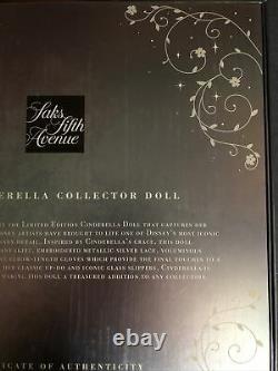 New Disney Cinderella 17 SAKS Fifth Avenue Limited Edition Doll. 1 Of 2500