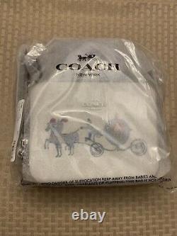 New NWT Wrapped Coach Disney Cinderella princess Box Crossbody Canvas C1426