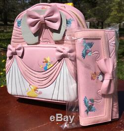 New With Tags Disney Loungefly Cinderella 70th Anniversary Backpack Plus Wallet