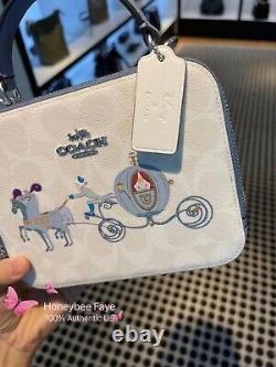 Nwt Disney X Coach cinderella Box Crossbody Canvas C1426