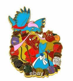 RARE LE 100 Disney PinCinderella Bluebird Mice Jaq Suzy Gus Mouse Sew Bird Bird