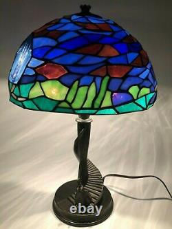 RARE Limited Edition Disney Tiffany-style Cinderella Stained Glass Lamp NEW