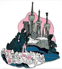 RARE SUPER JUMBO LE 100 Disney Auction Pin Cinderella Castle 3D Kingdom