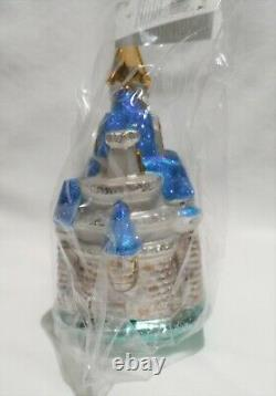 Radko Disney 1998 CINDERELLA'S CASTLE Vintage RARE Ornament NEW SEALED in BOX