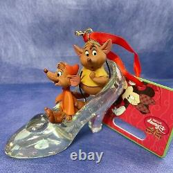 Rare Gus & Jaq 2013 Ornament Glass Cinderella Disney Store Heel Slipper Cute Tag