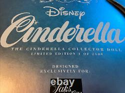 Saks Fifth Avenue Disney Cinderella 17 Limited Edition Heirloom Doll New 1/2500