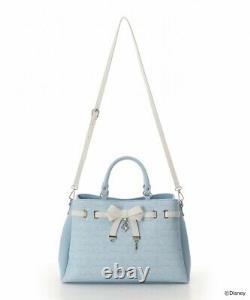 Samantha Vega Cinderella Disney 2019 Belt Bow Tote Shoulder Bag Light blue LARGE