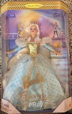 Set Of 5 Barbie Doll Collector's Beauty, Snow White, Cinderella, Repunzel, B&B
