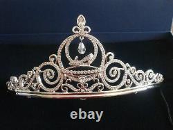 Signed Swarovski Disney Cinderella Rhodium Crystal Tiara 836673 New In Box withCOA