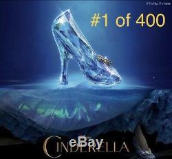 Swarovski Cinderella Crystal Slipper Life Sized #1 Of 400 Pieces Rare Disney