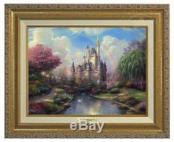 Thomas Kinkade New Day at Cinderellas Castle Canvas Classic (Gold Frame) Disney