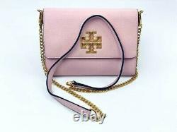 Tory Burch Britten Pebble Cartera para mujer, color rosa