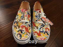 Vans x Disney Multi Princess Cinderella World Print Vintage Womens Shoes RARE