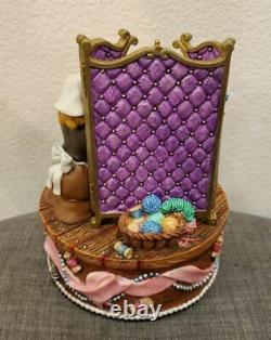 Vintage Disney Cinderella Pink Dress Spinning Mice Music Box Musical Statue RARE
