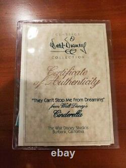 WDCC DISNEY CLASSICS CINDERELLA They Can't Stop Me From Dreaming (SIGNED)