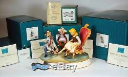 Walt Disney Classic Collection Cinderella Glass Slipper Scene, 5 Pieces
